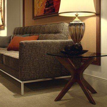 Large Sofa & Side Table View