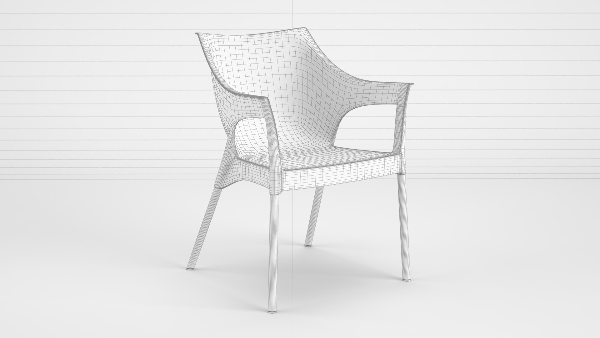 Pole_Chair_WhiteSet_01_wire_0000