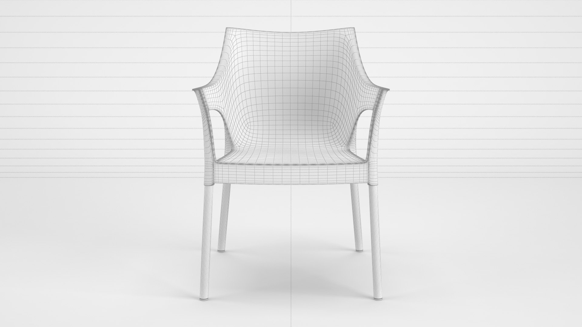 Pole_Chair_WhiteSet_01_wire_0001