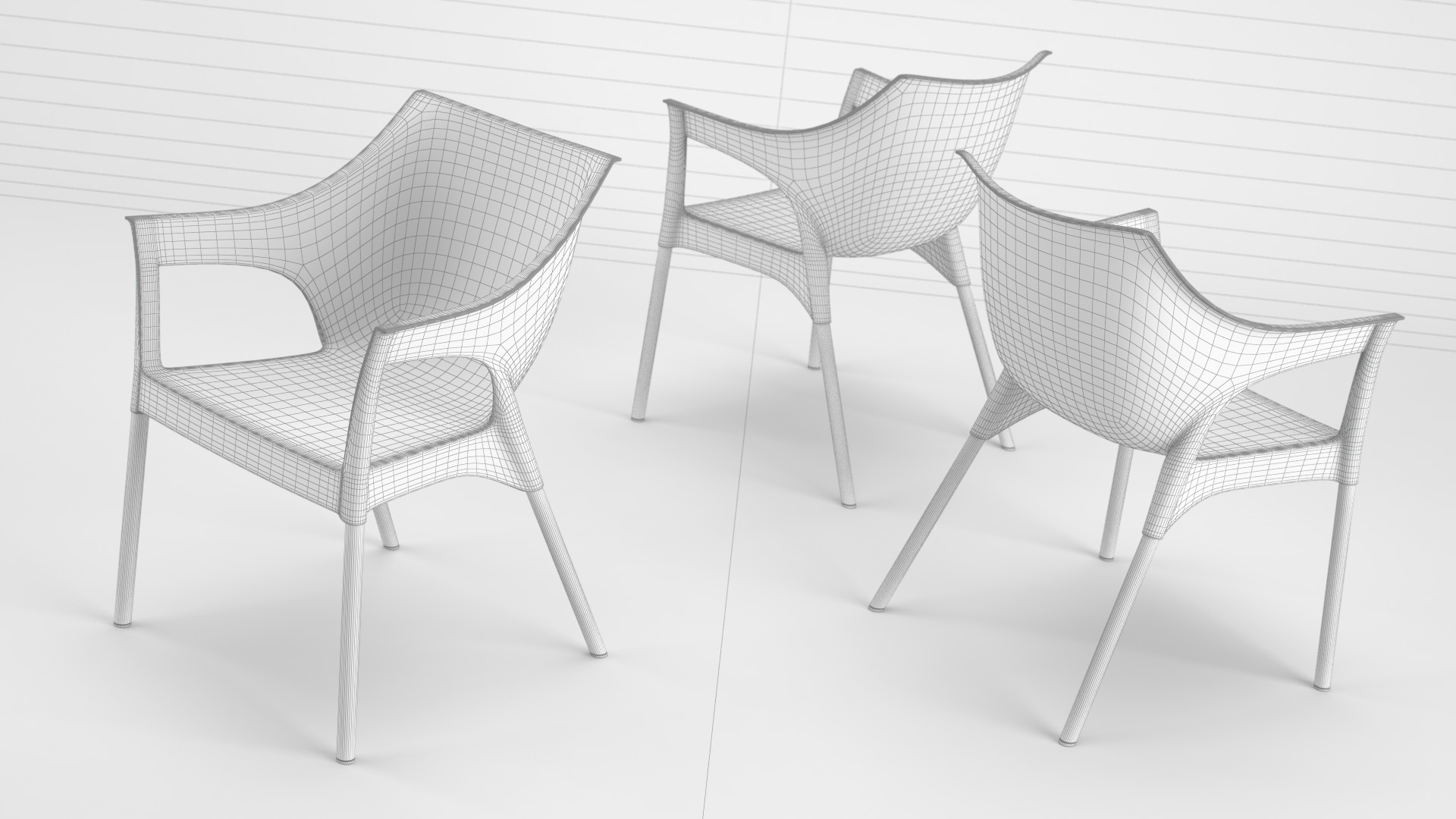 Pole_Chair_WhiteSet_01_wire_0003